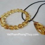 Vòng đeo tay tẩy uế hổ phách Myanmar VM109 7930